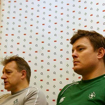 Eddie O'Sullivan and Brian O'Driscoll at the press conference
