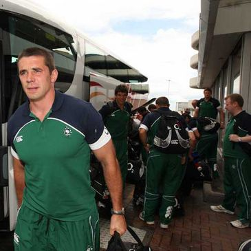 Alan Quinlan at Dublin Airport