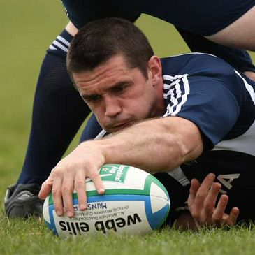 Alan Quinlan training with the Munster squad