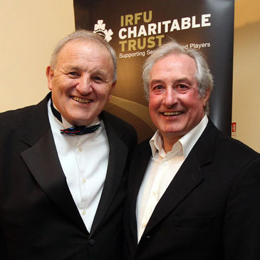 Mick Quinn with Gareth Edwards