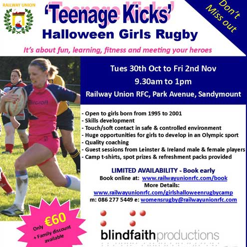 Railway Union launch Halloween camp for girls