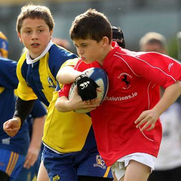 Ratoath and Claremorris Minis in action at the Aviva Rugby Festival