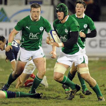 Ireland Under-20 captain Rhys Ruddock in action against France