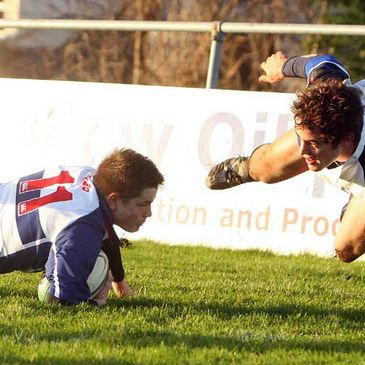 Action from Blackrock's win over Cork Constitution