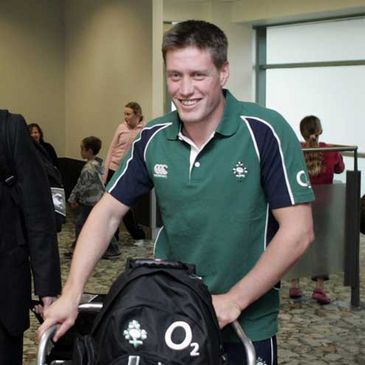 Ronan O'Gara was in good form as the squad touched down in Wellington