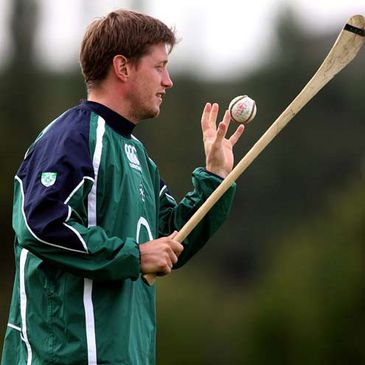 Ronan O'Gara shows off his stick work