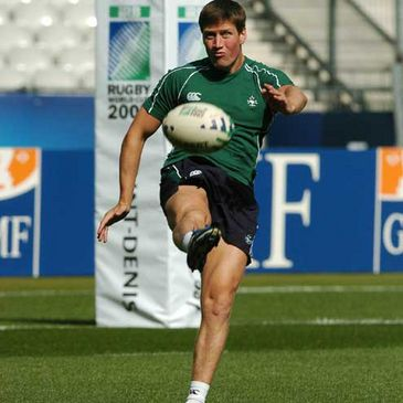 Ronan O'Gara at Thursday's kicking practice