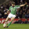 Ronan O'Gara goes for a drop goal attempt
