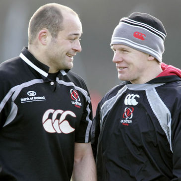 Rory Best with Ulster coach Mark McCall