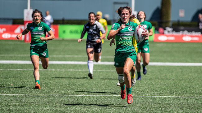 Amee-Leigh Murphy Crowe races clear to score against Australia