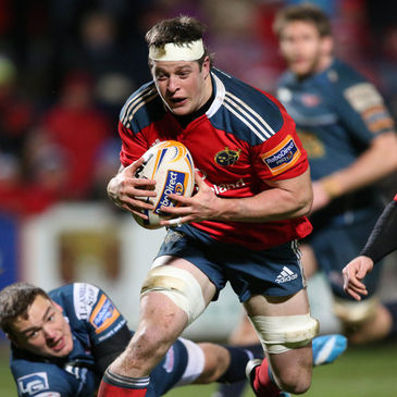 Barry O'Mahony in action for Munster