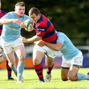 Hooker Bryan Byrne in action for Clontarf