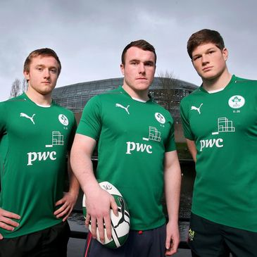 Under-20 squad members David Busby, Peter Dooley and Jack O'Donoghue