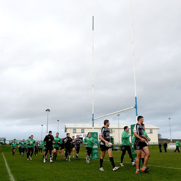 The Connacht players training at the Sportsground