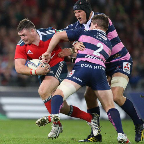David Kilcoyne in action against Gloucester