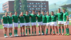 Ireland Men's Sevens Team At Rugby Europe Division C Tournament, Zenica, Bosnia, Sunday, June 7, 2015