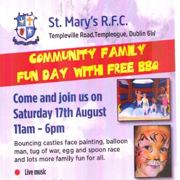 Family Fun Day in St. Mary's College RFC