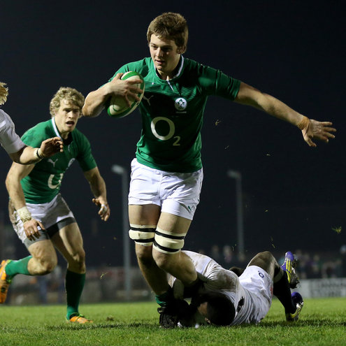 Iain Henderson in action for the O2 Ireland Wolfhounds