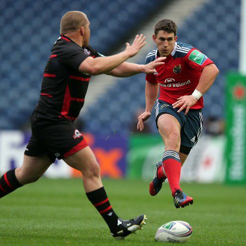 Ian Keatley in action against Edinburgh