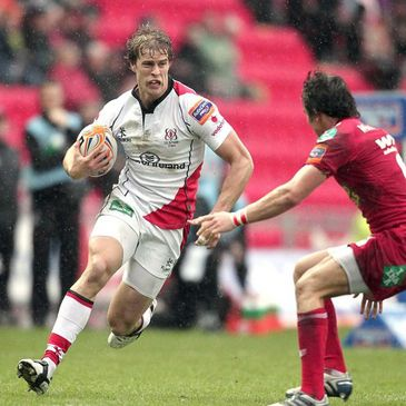 Andrew Trimble in action in Llanelli last season
