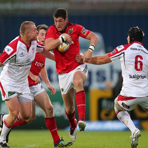 Munster's James Downey in action against Ulster