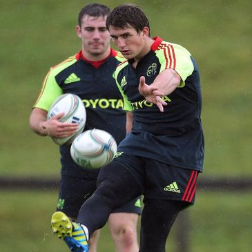 Munster's JJ Hanrahan and Ian Keatley