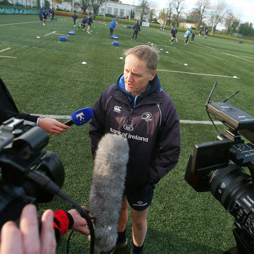 Joe Schmidt takes part in a media briefing