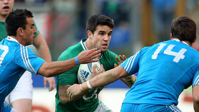 Conor Murray in action against Italy