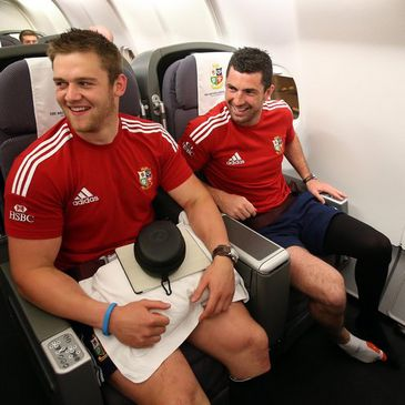 Rob Kearney is pictured beside Dan Lydiate