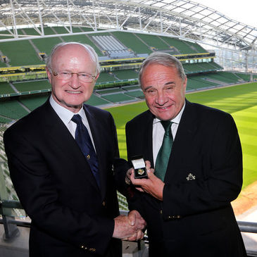 Pat Fitzgerald is the 126th President of the IRFU
