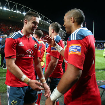 Munster's Conor Murray and Simon Zebo