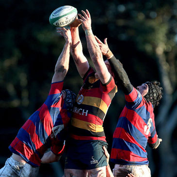 Action from the Clontarf v Lansdowne clash