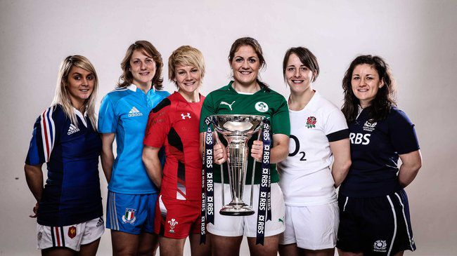 Fiona Coghlan with the Six Nations captains