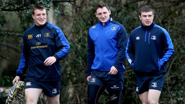 Leinster's Jack O'Connell, Darren Hudson and Luke McGrath
