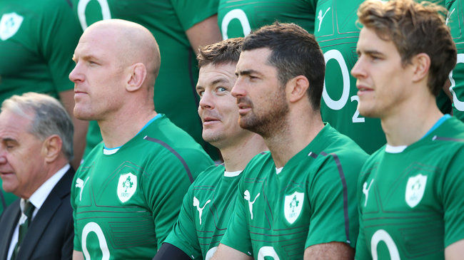 Brian O'Driscoll during today's squad photo session