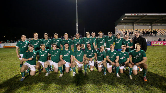 The Ireland Under-20 squad that beat Italy