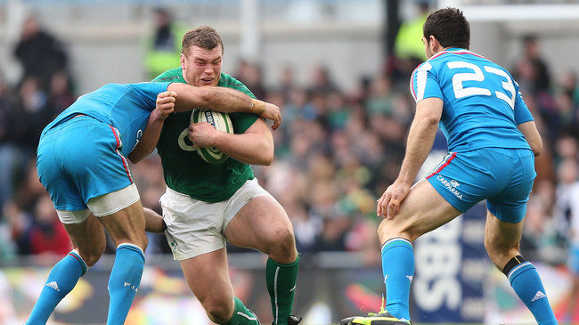 Jack McGrath in action against Italy
