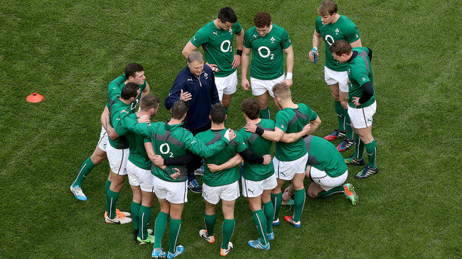 Joe Schmidt with the Ireland backs