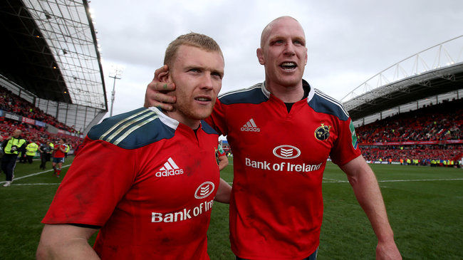 Munster's Keith Earls and Paul O'Connell
