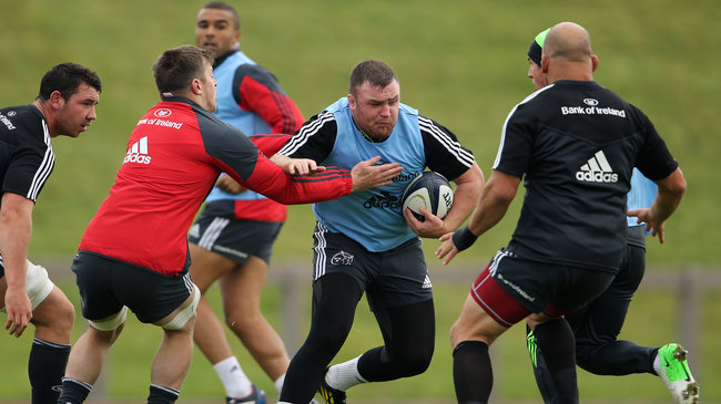 Munster Squad Training At UL, Tuesday, October 14, 2014