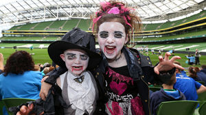 'Spooky' Fans At The Ireland Open Training Session, Friday, October 31, 2014