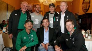Ireland Players & Coaches Meet Joost Van Der Westhuizen, Shelbourne Hotel, Friday, November 7, 2014