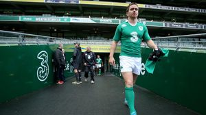 Ireland Captain's Run At The Aviva Stadium, Saturday, November 15, 2014