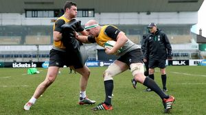 Ireland Open Training Session At The Sportsground, Galway, Wednesday, February 18, 2015