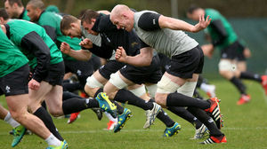Ireland Squad Training At Carton House, Thursday, March 12, 2015