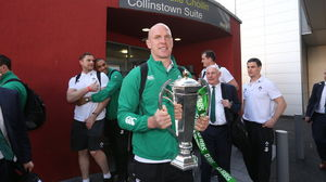 Ireland Squad's Homecoming At Dublin Airport, Sunday, March 22, 2015