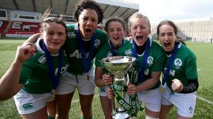 Ireland Women's Post-Match Celebrations & RBS 6 Nations Trophy Presentation, Broadwood Stadium, Sunday, March 22, 2015
