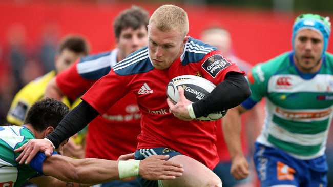 Munster winger Keith Earls