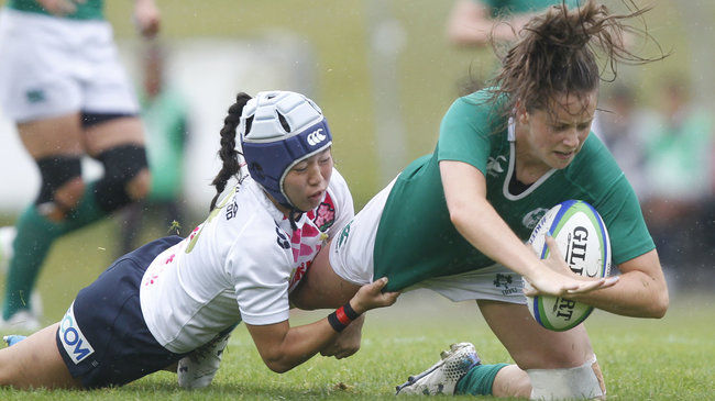 Stacey Flood in possession for Ireland