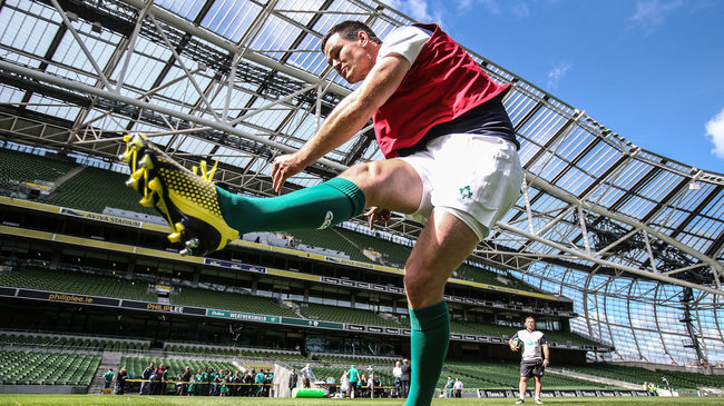 Ireland Captain's Run At The Aviva Stadium, Friday, August 28, 2015
